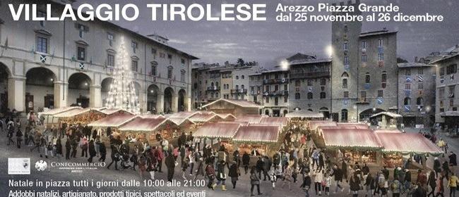 Il villaggio tirolese piazza grande arezzo for Arezzo mercatino