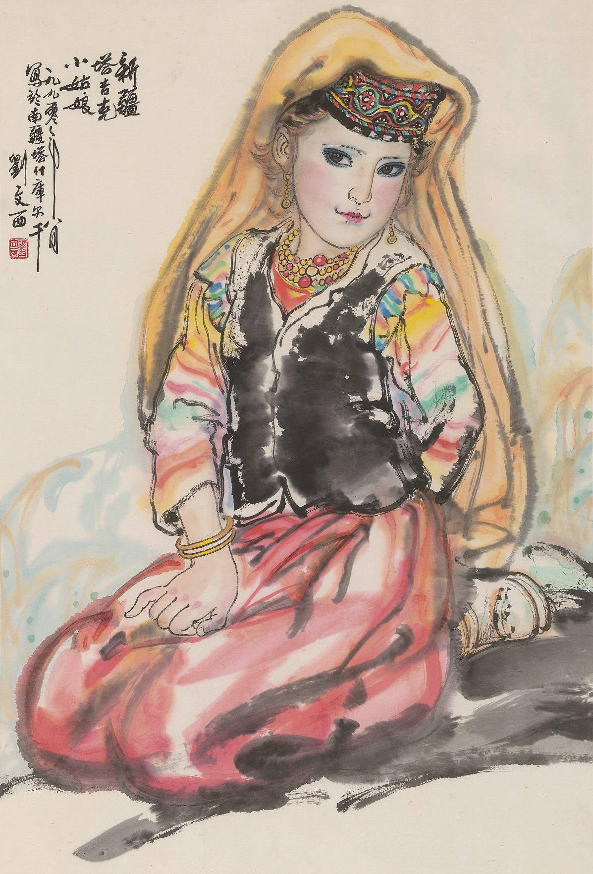 liu-wenxi-ritratto-di-ragazza-tajik-1990