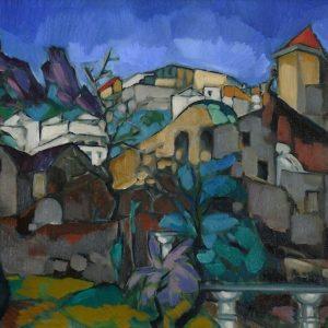 KONRAD MÄGI 1922-1923 Capri Landscape-min
