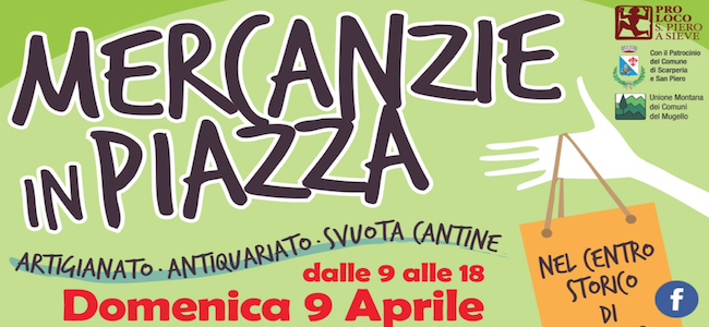 Mercanzie in piazza 9 aprile 2017
