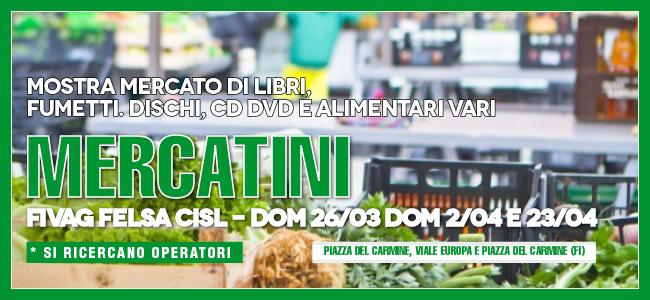 70035453de OK_mercato cisl banner. In piazza del Carmine e in viale Europa ...
