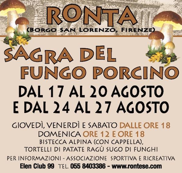 Sagra porcino Ronta_locandina