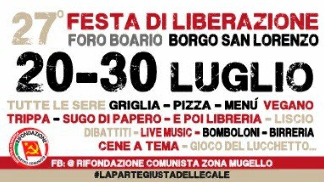 festa di liberazione borgo san lorenzo