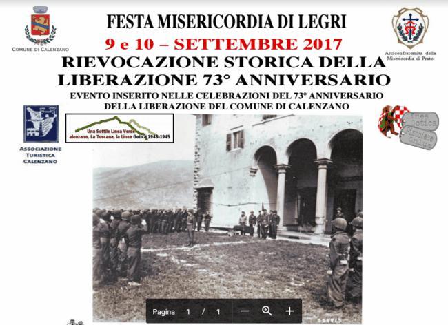 Rievocazione storica della liberazione legri calenzano for Interno 3 calenzano