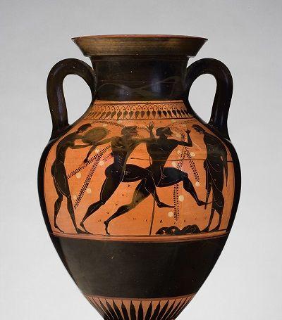 Anfora con raffigurazione di atleti - Attica, circa 510 a.C
