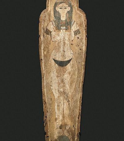 Fondo di sarcofago con raffigurazione della dea Nut - Egitto, XXVI dinastia