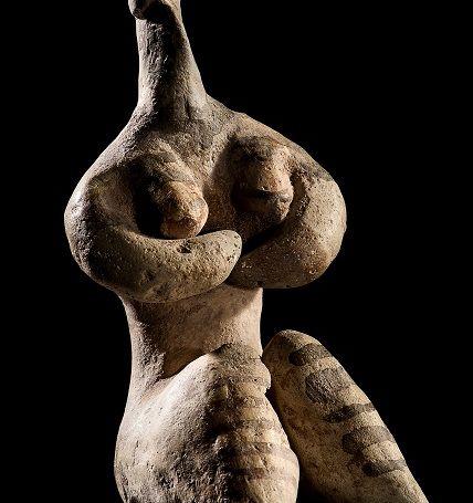 Idolo femminile di Tell Halaf - Siria, V millennio a.C