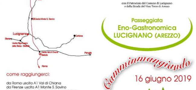 camminarMangiando Lucignano