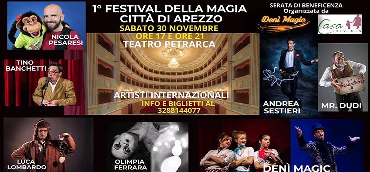 1° Festival Della Magia Città di Arezzo – Teatro Petrarca, Arezzo