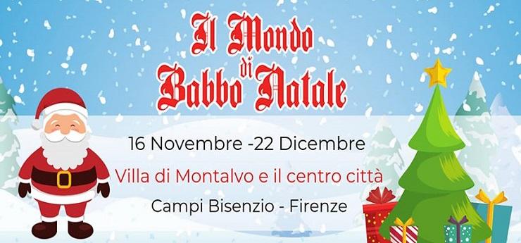 Il Mondo di Babbo Natale – Villa Montalvo e centro città, Campi Bisenzio (Firenze)