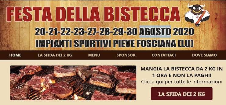 Festa della bistecca – Impianti sportivi, Pieve Fosciana (Lucca)
