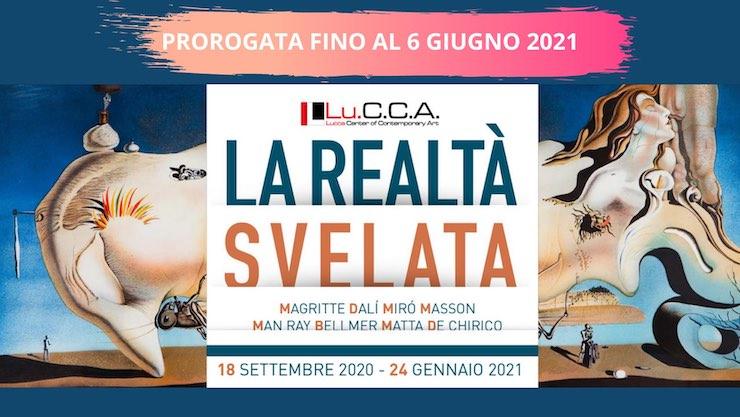 La realtà svelata. Il Surrealismo e la metafisica del sogno. Magritte, Dalí, Miró, Masson, Man Ray, Bellmer, Matta e De Chirico – Lu.C.C.A. Lucca Center of Contemporary Art, Lucca