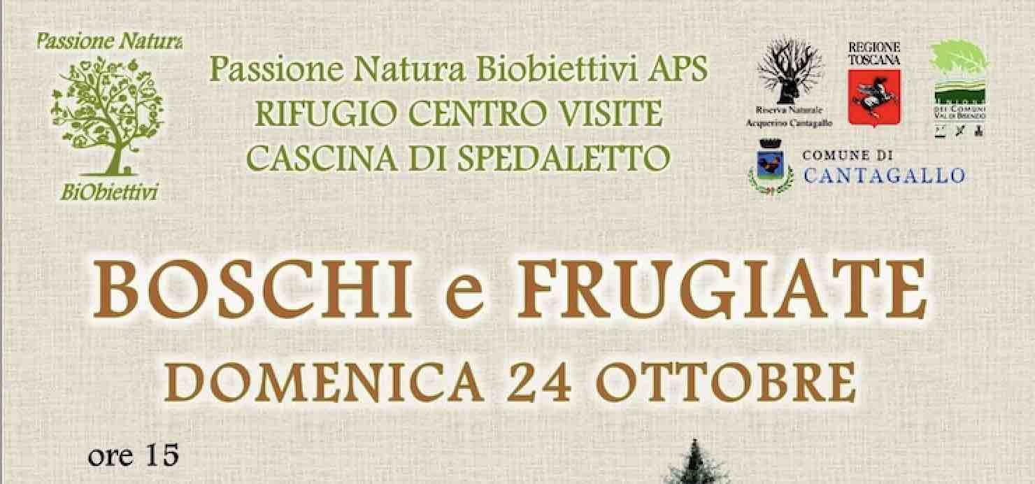 Boschi e frugiate – Rifugio centro visite Cascina di Spedaletto, Cantagallo (Prato)